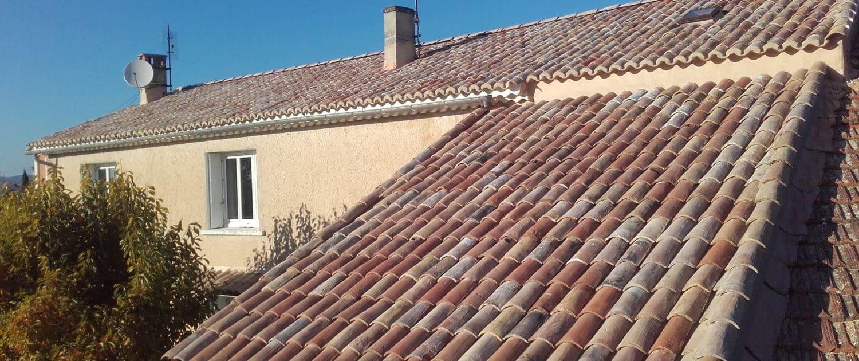 Toiture rénover par Murs & Tradition à Caderousse